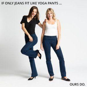 Betabrand Yoga Denim Boot-Cut • Classic Dark Indigo